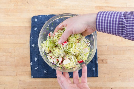 Make the frisée salad: