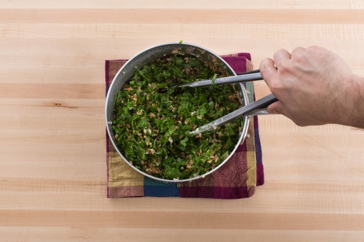 Cook the farro & make the salad:
