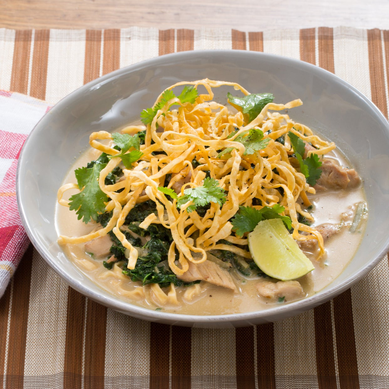 Recipe: Chicken Khao Soi Soup with Yellow Curry & Crispy ...