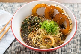 Caramelized Leek & Barley Miso Ramen with Delicata Squash & Fresh ...