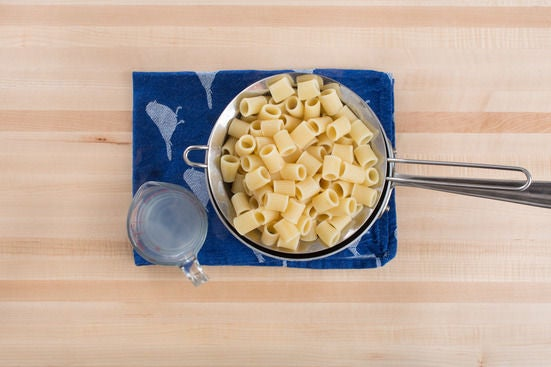 Cook the pasta & vegetables: