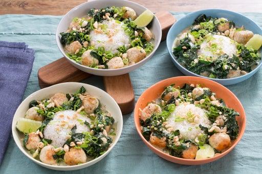 Thai Chicken Meatball Curry with Lemongrass & Jasmine Rice