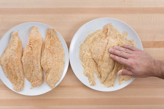 Coat the catfish:
