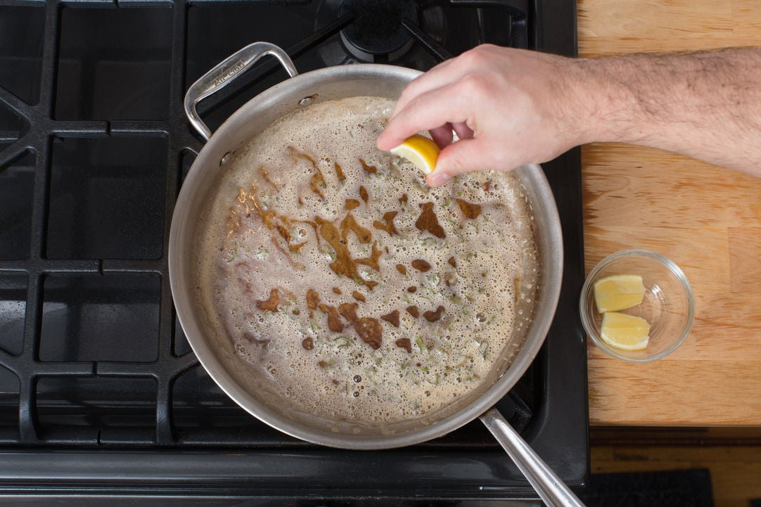 Make the sage brown butter: