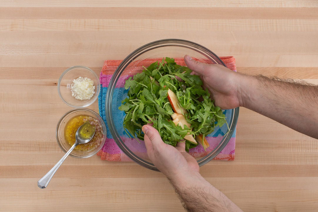 Make the salad & serve your dish: