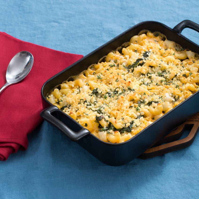 Cavatappi Mac & Cheese with Purple Top Turnip & Kale
