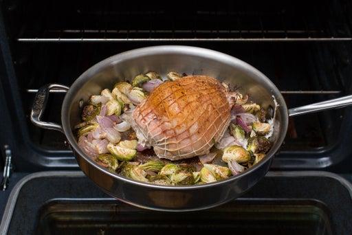 Roast the vegetables & turkey: