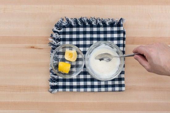 Make the lemon crème fraîche: