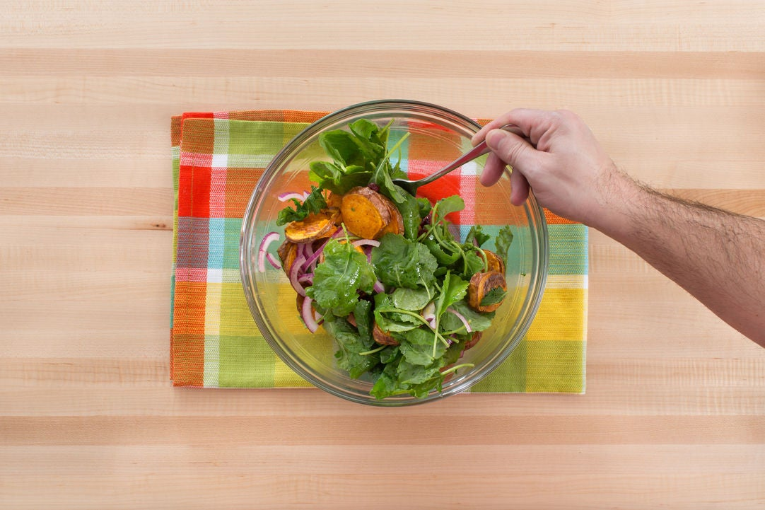 Make the sweet potato salad: