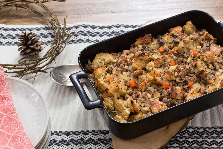 Pork & Mushroom Stuffing with Sourdough Bread & Fresh Herbs