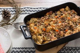 Pork & Mushroom Stuffing with Sourdough Bread & Fresh Herbs