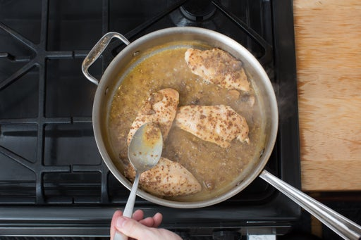 Glaze the chicken: