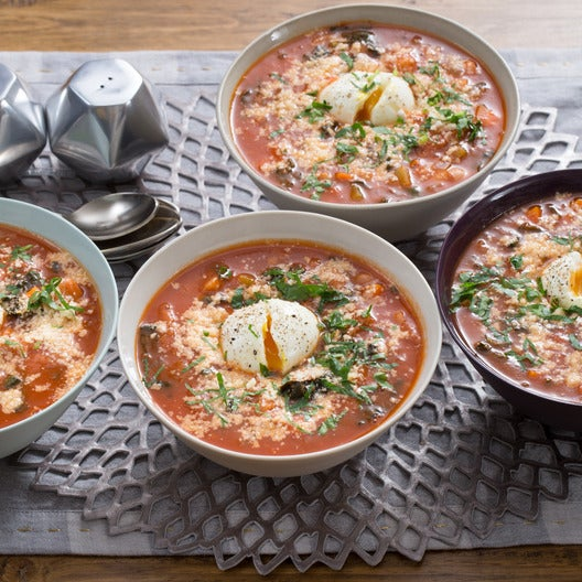 Tuscan Ribollita Soup with Lacinato Kale & Soft-Boiled Eggs