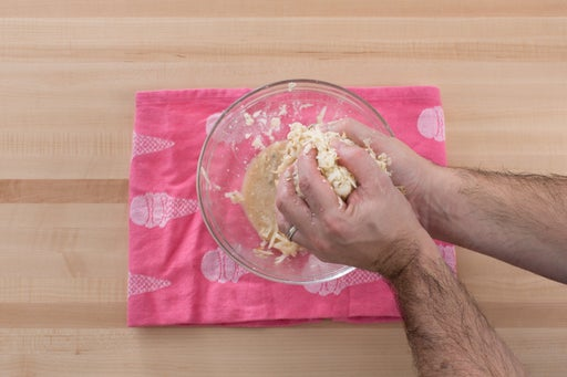 Form the latkes: