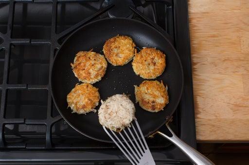 Cook the latkes: