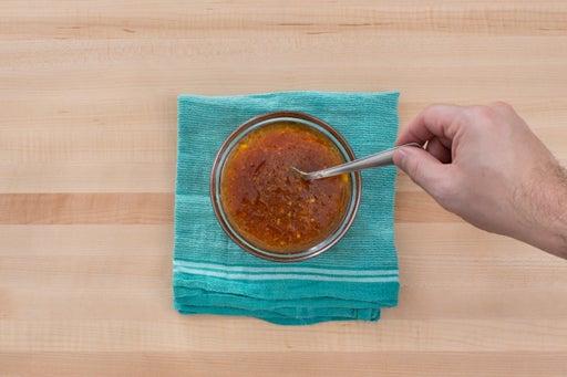 Make the orange glaze: