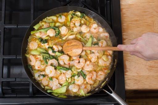 Add the shrimp & orange glaze: