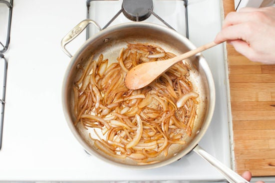 Cook the onions: