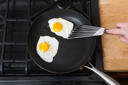 Cook the eggs & serve you dish: