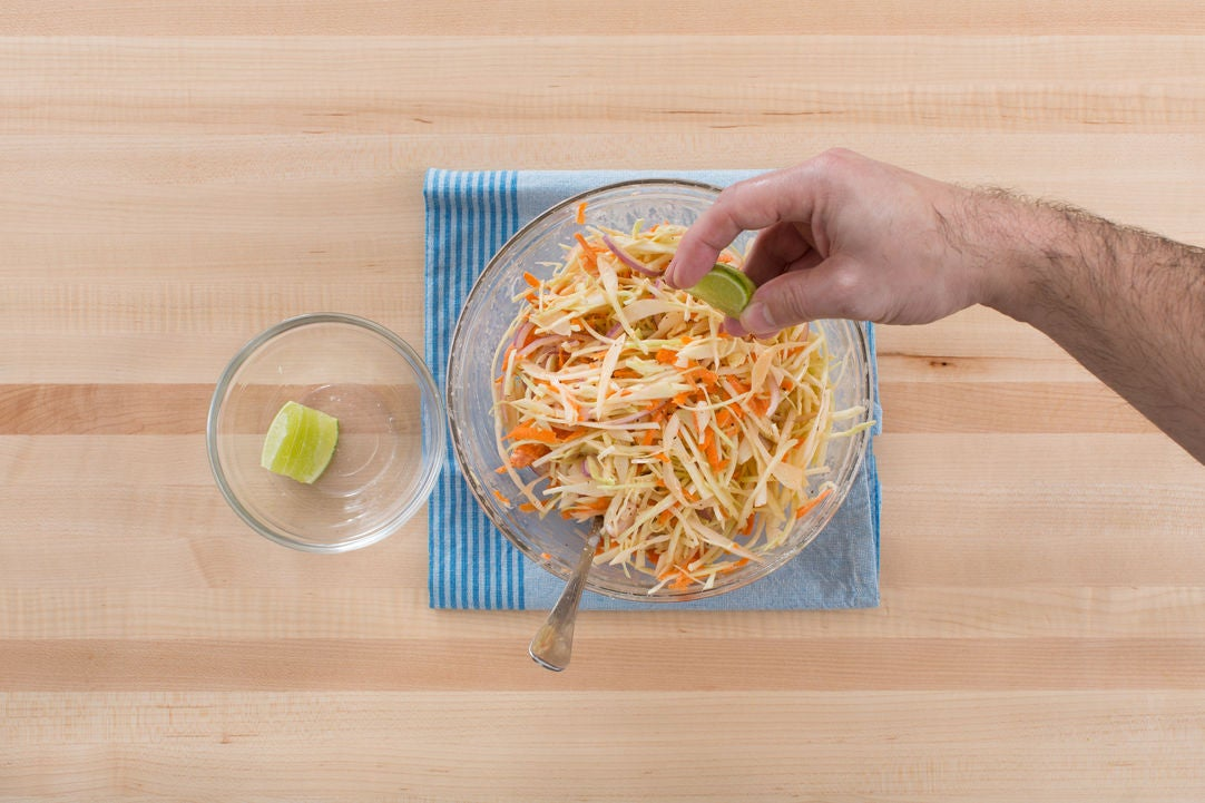 Make the coleslaw: