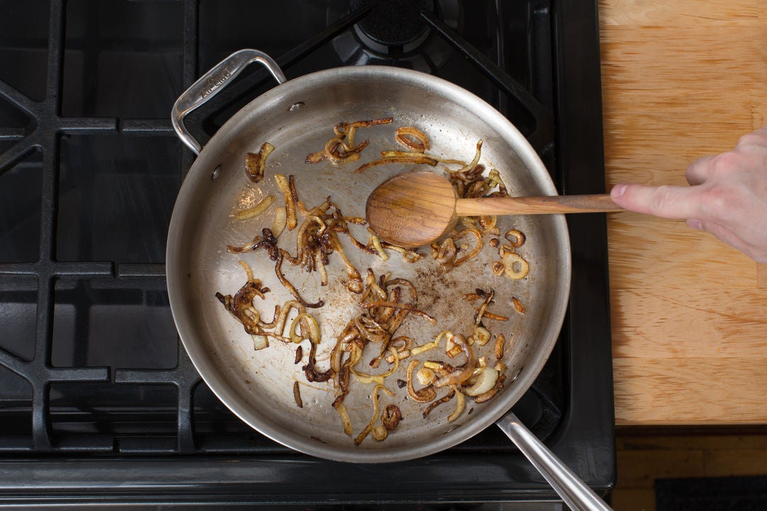 Caramelize the onion:
