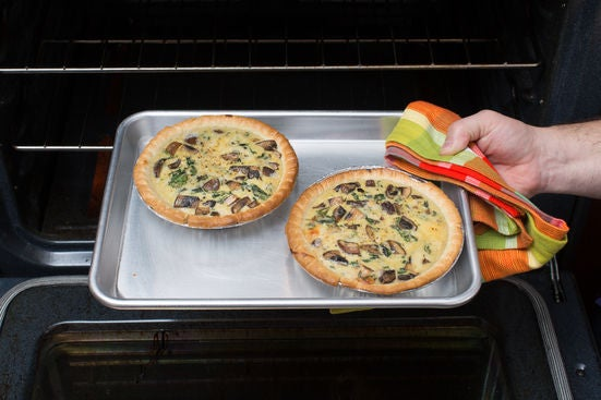 Bake the quiches: