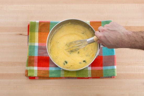 Cook the grits: