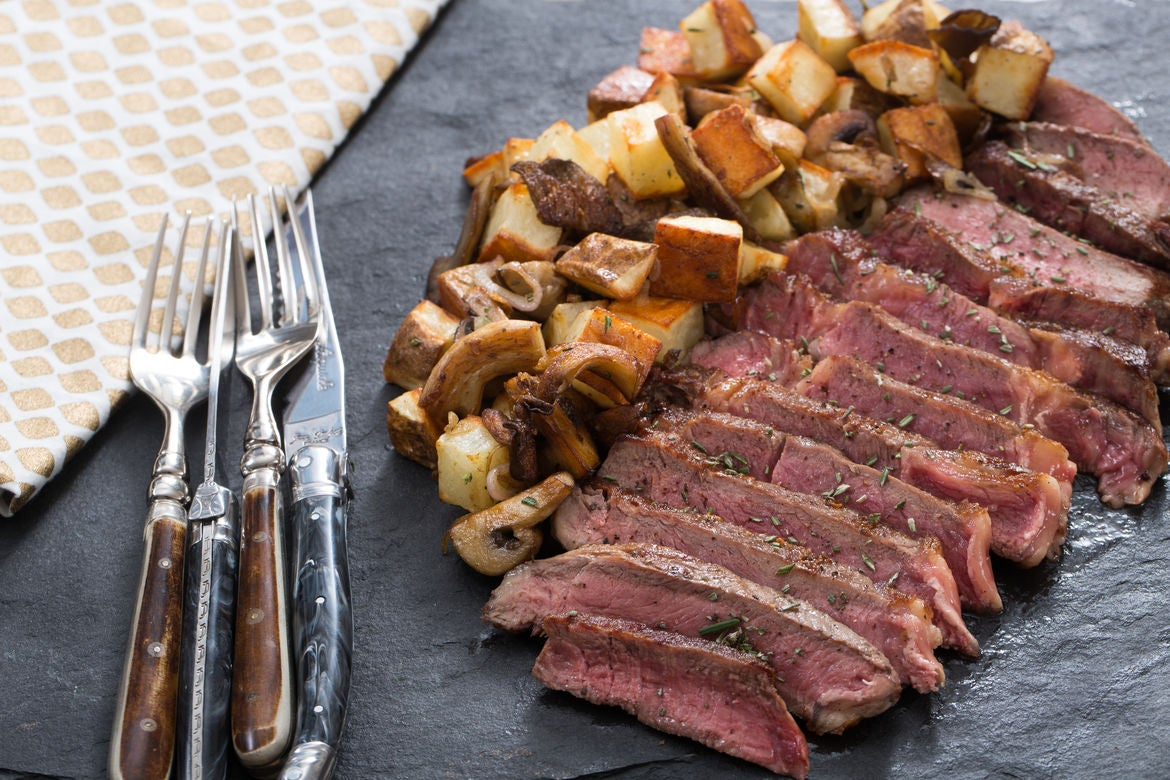 Ribeye Steak for Two  with Mushroom & Potato Hash