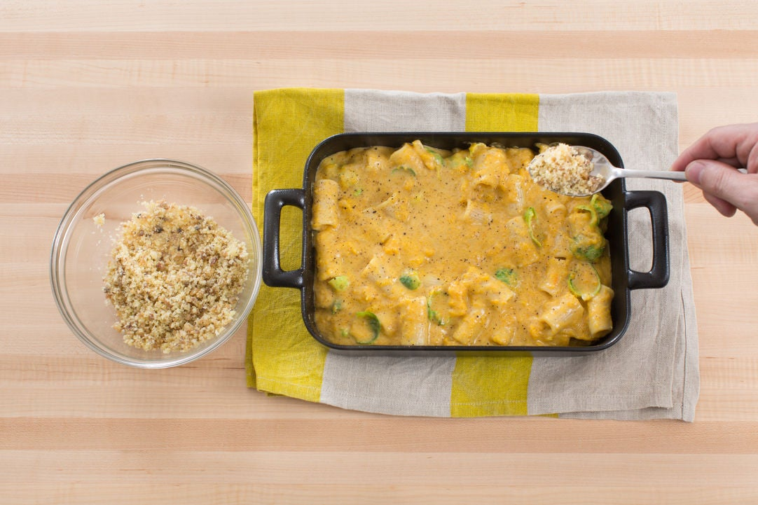 Bake the casserole & serve your dish: