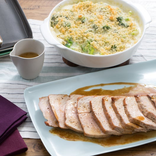 Roast Pork & Broccoli Gratin with Gruyere Cheese