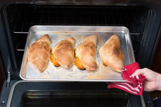 Bake the calzones:
