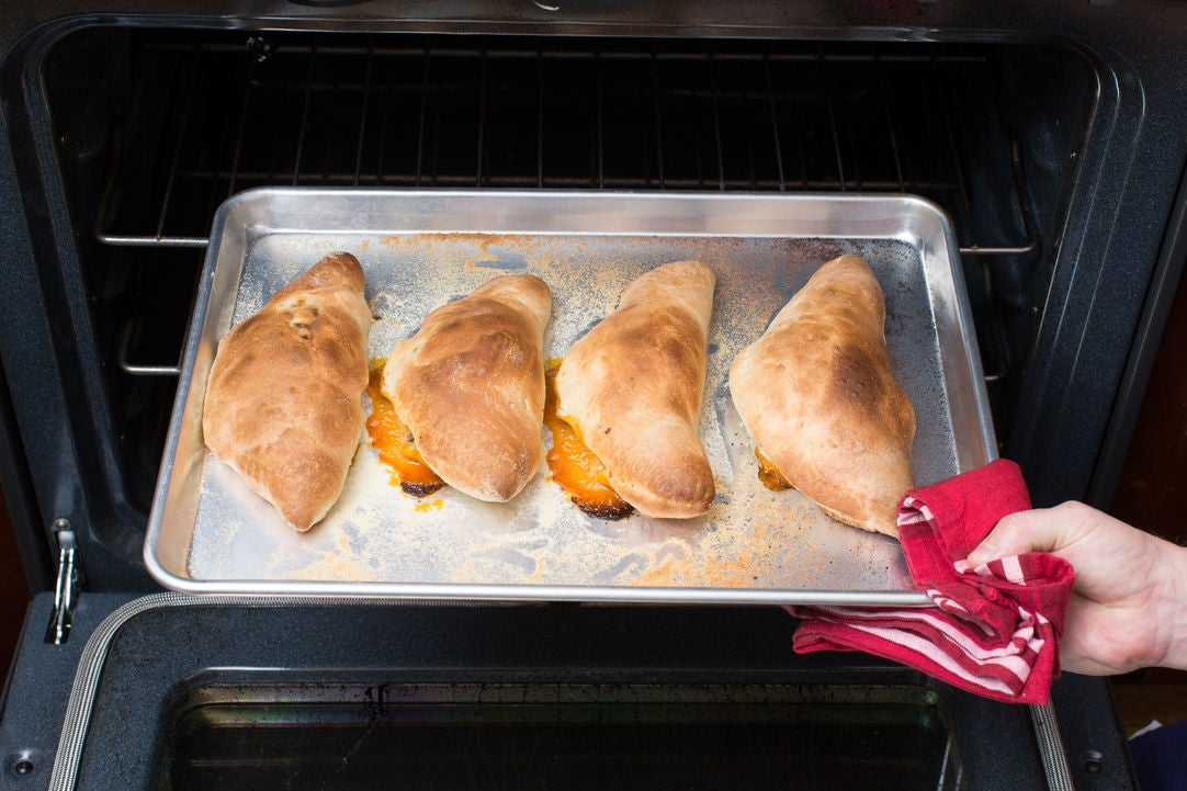 Bake the calzones: