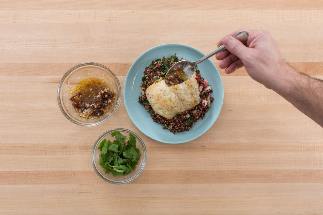 Finish & plate your dish: