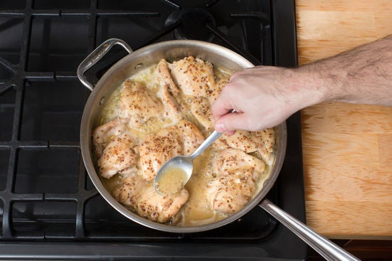 Make the glaze & finish the chicken: