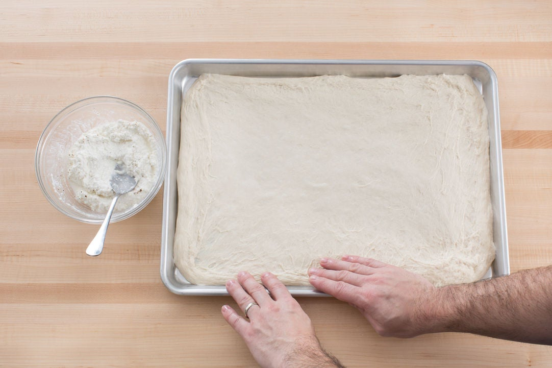 Make the lemon ricotta & prepare the dough: