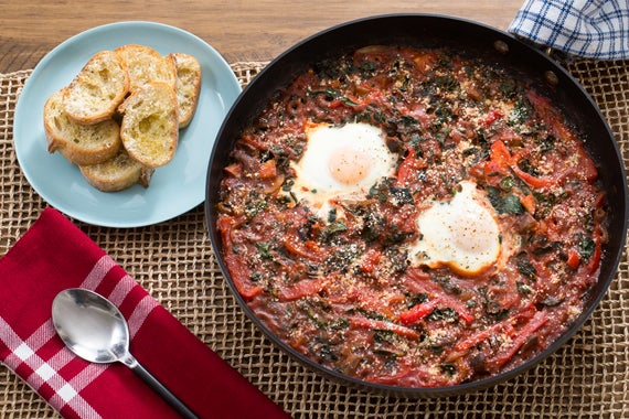 Recipe: Cacciatore-Style Baked Eggs with Lacinato Kale & Parmesan ...