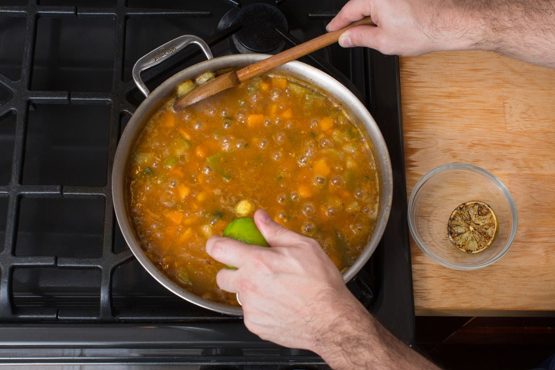 Finish the chili: