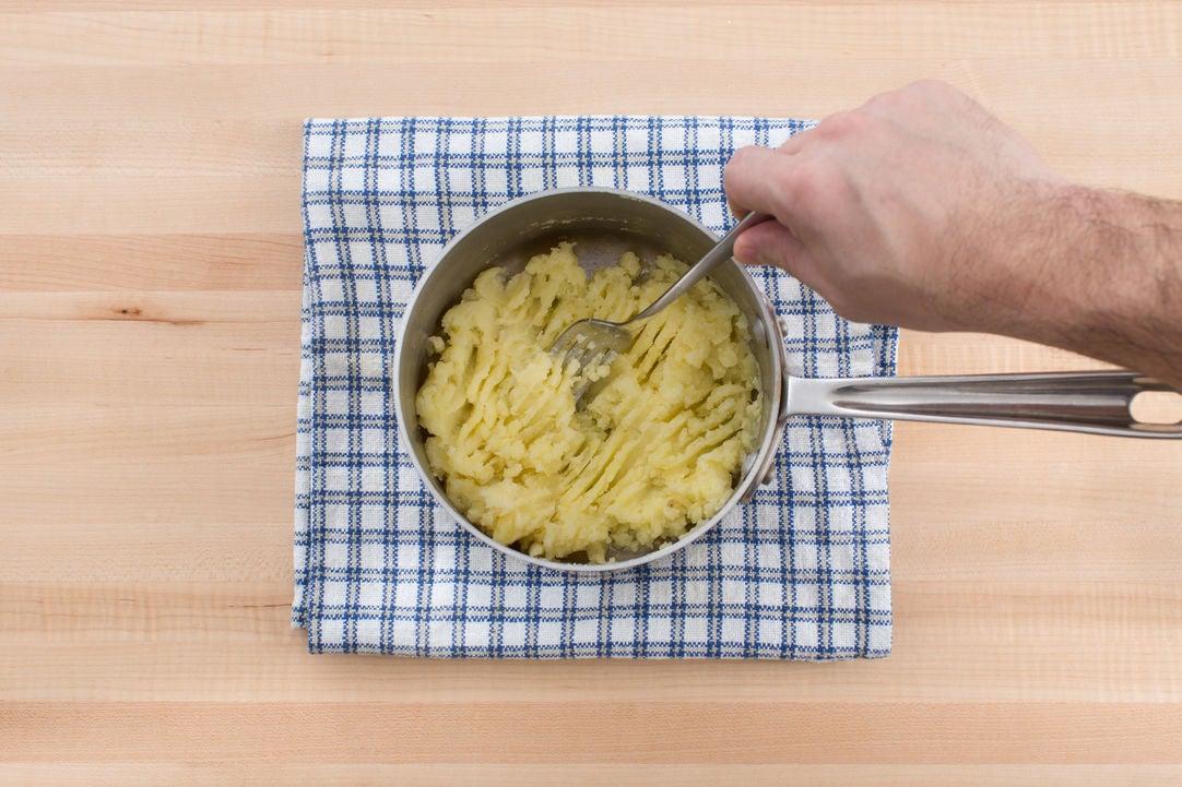 Cook & mash the potato: