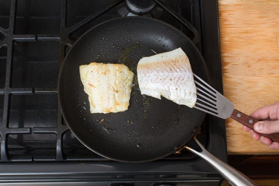 Cook & flake the cod: