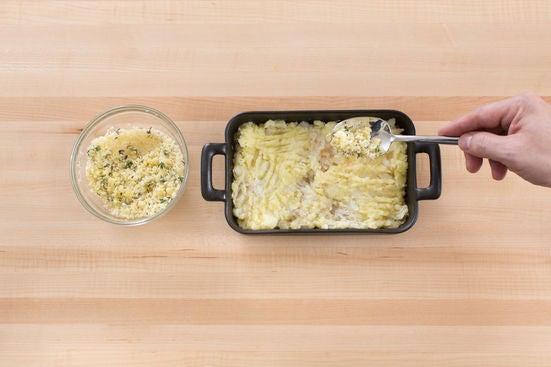 Assemble & bake the brandade: