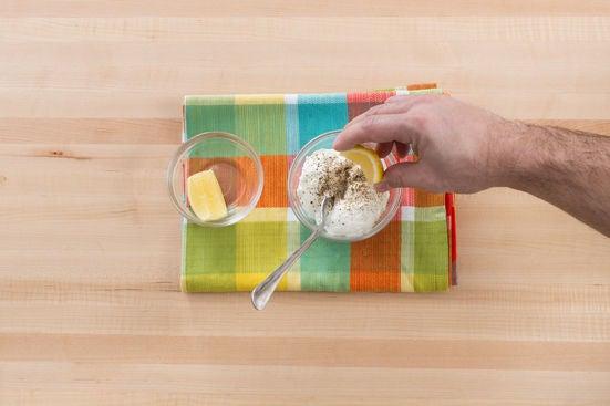 Season the yogurt & serve your dish: