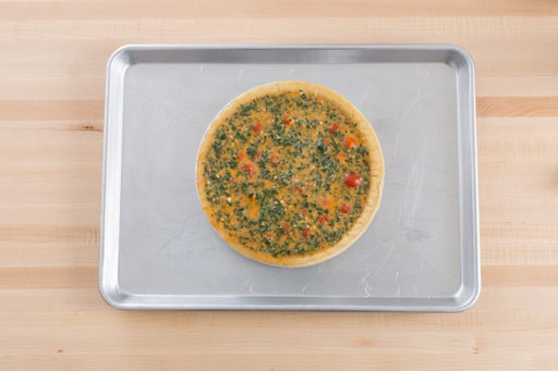 Assemble & bake the quiche: