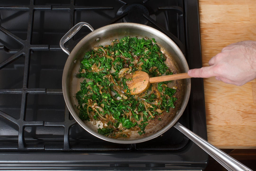 Caramelize the onion & add the vegetables: