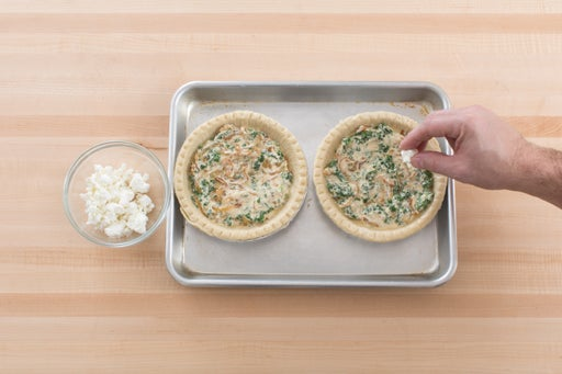 Assemble & bake the quiches: