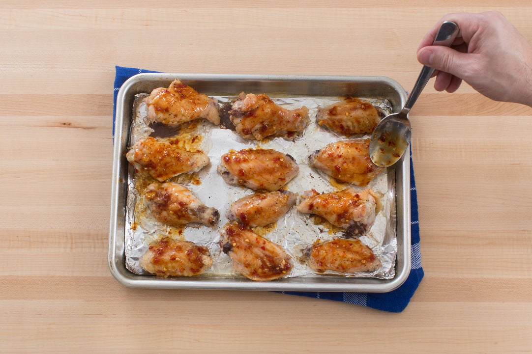 Finish the chicken wings: