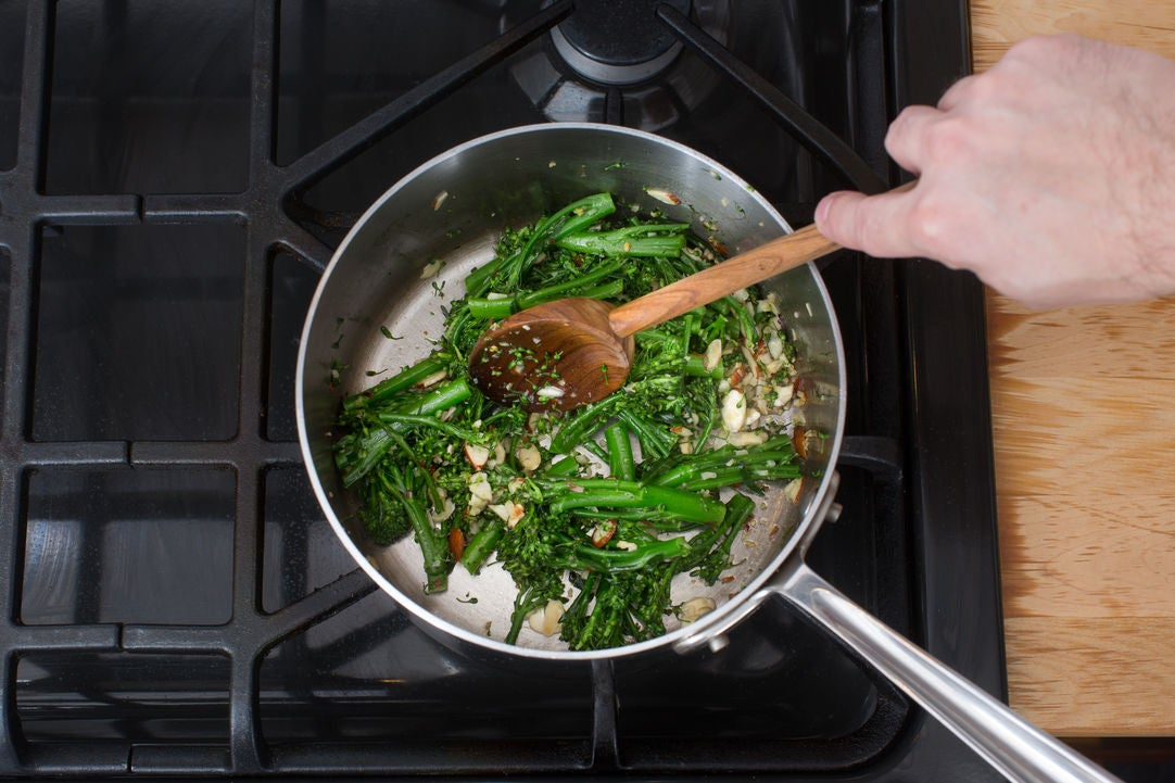Finish the broccolini & plate your dish: