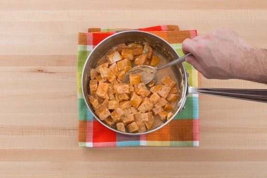 Cook & dress the sweet potatoes: