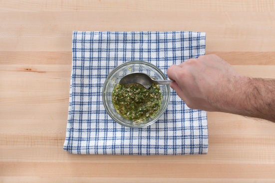 Make the salsa verde: