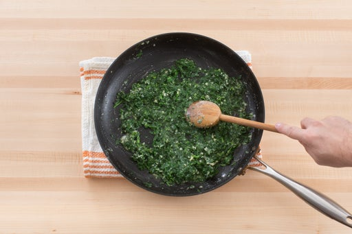 Finish the spinach: