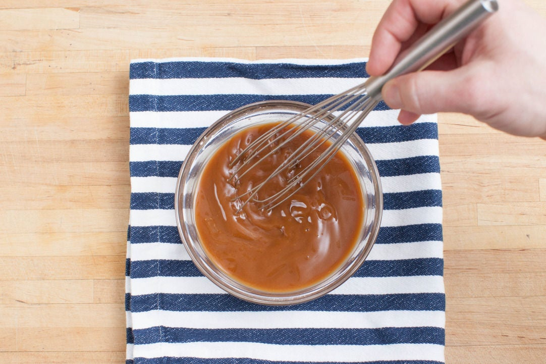 Start the stir-fry sauce: